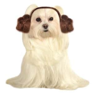 Star Wars Pet Dog Leia Buns Headwear Halloween Costume Accessory for $8