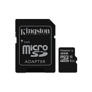 Kingston Digital 16GB Micro SDHC UHS-I Class 10 Industrial Temp Card with SD Adapter (SDCIT/16GB) for $35