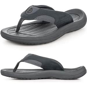 Krabor Men's Flip Flops for $14