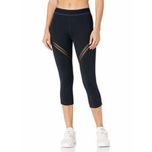 SHAPE activewear Women's Retreat Capri, Caviar Black/Cuba Liberal, M for $46