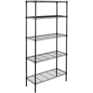 Amazon Basics 5-Shelf Adjustable Shelving Unit for $59
