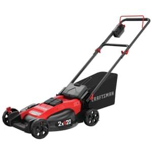 "Craftsman V20 2x20V 20"" Cordless Push Mower Kit for $300 w/ free trimmer or battery"