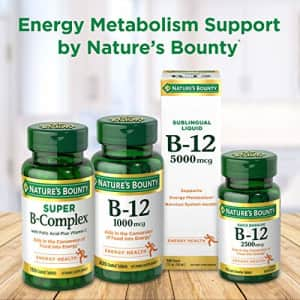 Vitamin B6 by Nature's Bounty, Vitamin Supplement, Supports Energy Metabolism and Nervous System for $8