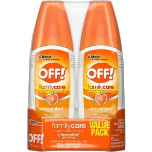 OFF! FamilyCare Bug Spray & Mosquito Repellent 6-oz. 2-Pack for $7