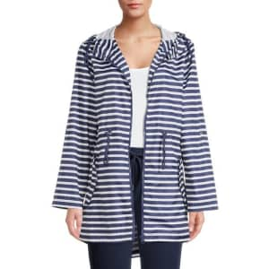 Big Chill Women's Packable Windbreaker Anorak Jacket for $10