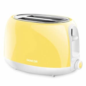 Sencor STS36YL 2-slot High Lift Toaster with Safe Cool Touch Technology, Sunflower Yellow for $58