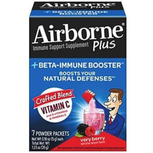 Airborne Plus Beta-Immune Booster Very Berry Powder Packets, 7 count - Vitamin C Immune Support for $15