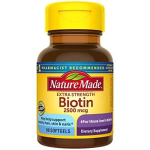 Nature Made Biotin 2500 mcg Softgels 90 Ct, Support Healthy Hair, Skin, Nails (Packaging May Vary) for $17