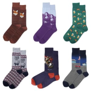 Hot Sox Men's Crew Socks at Macy's: for $4