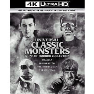 Universal Classic Monsters: Icons of Horror Collection 4K UDH Boxset: preorder for $44