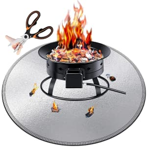 """ToHayie 26"""" Fire Pit Mat for $14"""