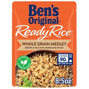 Ben's Original Ready Rice Whole Grain Medley 8.5 oz. Pouch 12-Pack for $20