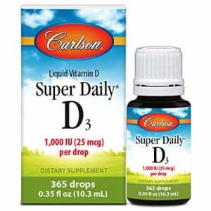 Carlson Labs Carlson - Super Daily D3, Vitamin D Drops, 1,000 IU (25 mcg) per Drop, 1-Year Supply, Vitamin D3 for $14