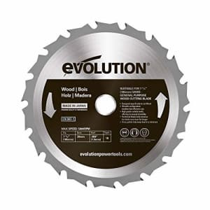 Evolution Power Tools 185BLADEWD 7-1/4-Inch Wood Cutting Blade with 20-mm Arbor for $22
