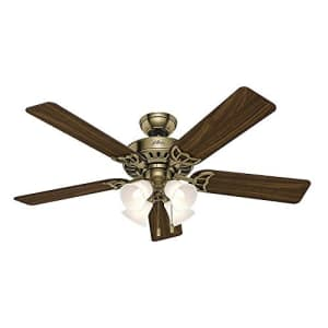 Hunter Fan Company 53063 Studio Series 52 Inch Ceiling Fan with 4 Covered Energy Efficient LED for $153