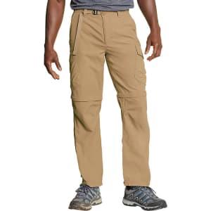 Eddie Bauer Men's Exploration 2.0 Packable Convertible Pants for $35