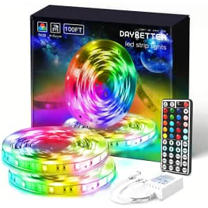 Daybetter 100-Ft. Color-Changing LED Strip Lights w/ Remote Control for $30