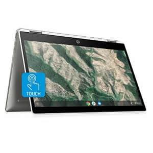 HP Chromebook X360 14-Inch HD Touchscreen Laptop, Intel Celeron N4000, 4 GB RAM, 32 GB eMMC, Chrome for $300