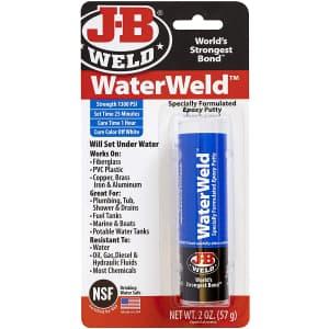 J-B Weld WaterWeld 2-oz. Epoxy Putty Stick for $4