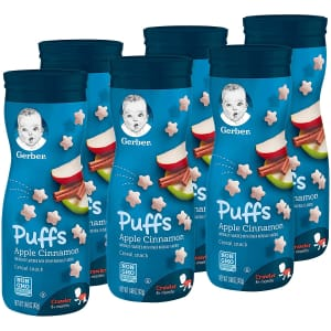 Gerber Apple Cinnamon Puffs Cereal Snack 1.48-oz. 6-Pack for $12