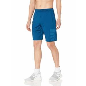 adidas Men's 4Krft Sport Badge of Sport Graphic Shorts, Legend Marine, XX-Large for $35