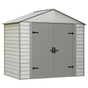 Arrow Viking 8ft. Vinyl-Coated Steel Storage Shed for $459