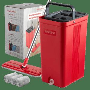 Bosheng Flat Floor Mop and Bucket Set for $31