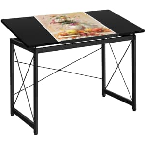 SmileMart Adjustable Drafting Table for $60