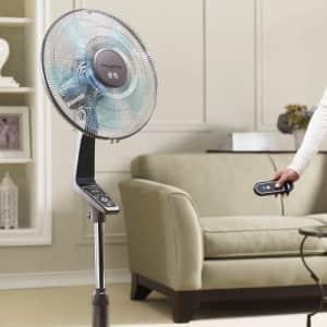 Rowenta VU5550 Turbo Silence Oscillating Fan, Standing Fan, 4 Speed Fan with Remote Control for $230