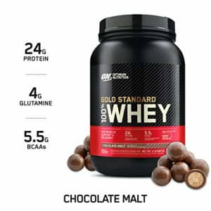 Optimum Nutrition Gold Standard 100% Whey Protein Powder, Chocolate Malt, 2 Pound (Packaging May for $30