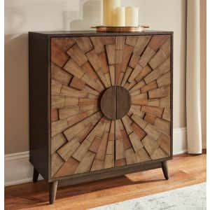 Home Decorators Collection Starburst Pattern Wood Accent Cabinet for $259