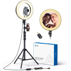 """Andobil 12"""" LED Selfie Ring Light with 67"""" Tripod Stand for $29"""