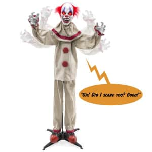 Best Choice Scary Harry the Motion Activated Animatronic Killer Clown for $55