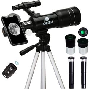 Kiosesi 400mm Refractor Telescope for $45