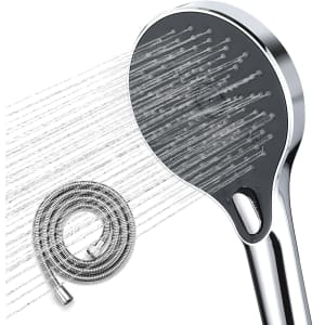"""WaterSong 5"""" High-Pressure Shower Head for $15"""
