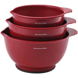 KitchenAid Classic Mixing Bowls 3-Piece Set for $21