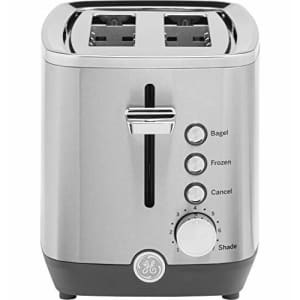 GE 2-Slice Toaster, Easy-to Use Toaster with Pre-Set Controls for 7 Shade Settings, Bagels & Frozen for $49