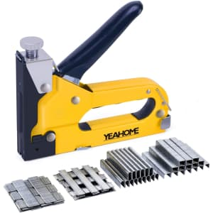 Yeahome 4-in-1 Stapler Gun with 4,000 Staples for $9