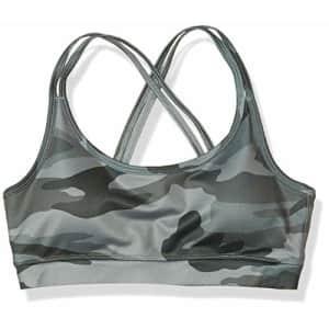 Splendid Women's Activewear Yoga Sports Bra, Olive Camo, XS for $31