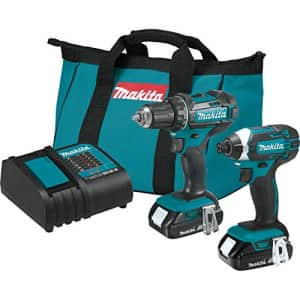 Makita CT225SYX 18V LXT Lithium-Ion Compact Cordless 2-Pc. Combo Kit (1.5Ah) for $207