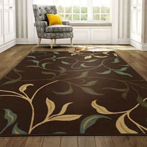 """Ottomanson Brown Ottohome Contemporary Design Modern Area Rug with Non-Skid Rubber Backing 8'2""""W x for $103"""