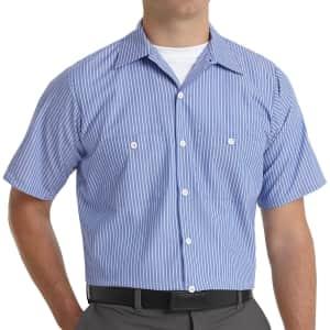 Red Kap Men's Industrial Striped Work Shirt for $16