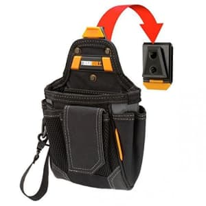 ToughBuilt - Warehouse Tool Pouch   9 Pockets and Loops, Covered Cell Phone Holder, Tape Measure for $21