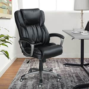Serta Executive Office Adjustable Ergonomic Computer Chair with Layered Body Pillows, Waterfall for $277
