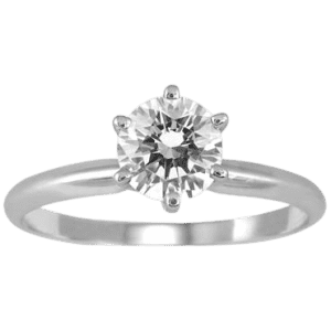 Szul 3/4-TCW Round Solitare Ring in 14K White Gold for $725