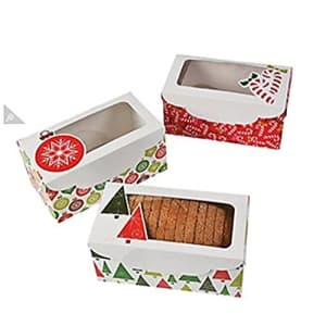 Fun Express Christmas Holiday loaf boxes - 12 pack - Great for Desserts and Party Supplies for $10