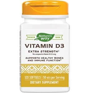 Nature's Way Premium Quality Vitamin D3, 50 mcg per serving, for Bones & Immunity, 120 Count for $11