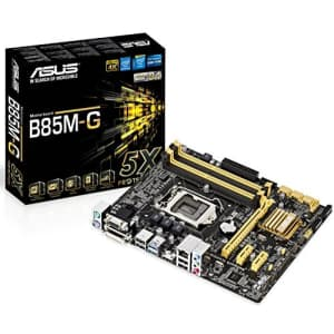 ASUS Micro ATX DDR3 1600 LGA 1150 Motherboard B85M-G for $128