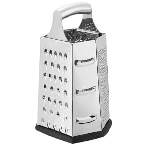 AmazonCommercial Stainless Steel 6-Sided Box Grater for $12
