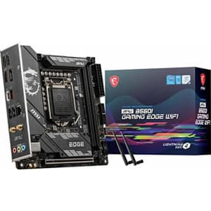 MSI MPG B560I Gaming Edge WiFi Gaming Motherboard (m-ITX, 11th/10th Gen Intel Core, LGA 1200 for $420